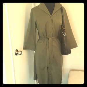 Army green trench coat dress 8